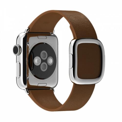 Браслет кожаный Brown Modern Buckle for Apple Watch 38/42mm