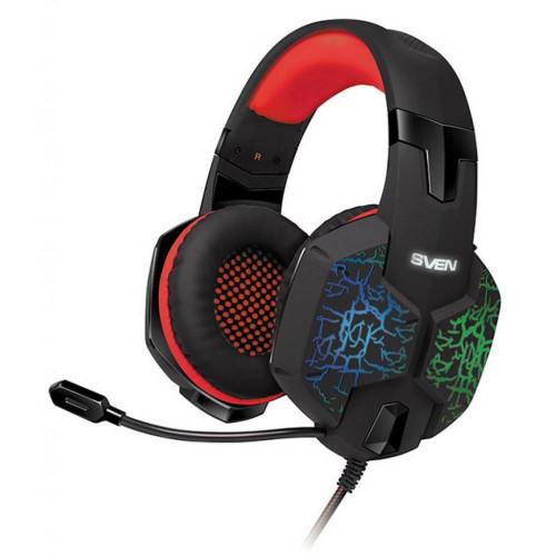 Гарнитура SVEN AP-U988MV Black-Red с микрофоном / игровые
