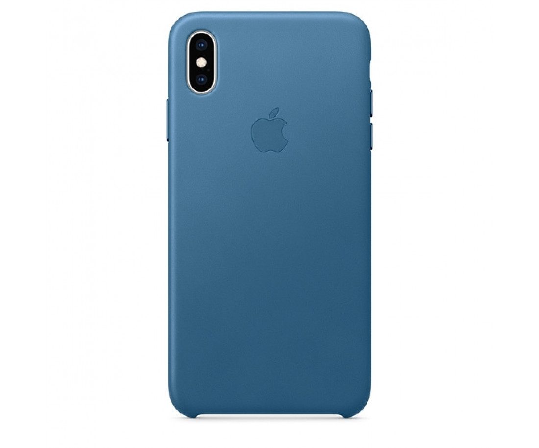 Чехол Apple Leather Case Cape Cod Blue (MTEW2) для iPhone XS Max