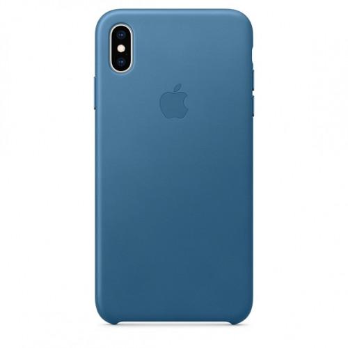 Чехол Apple Leather Case Cape Cod Blue (MTEW2) для iPhone XS Max