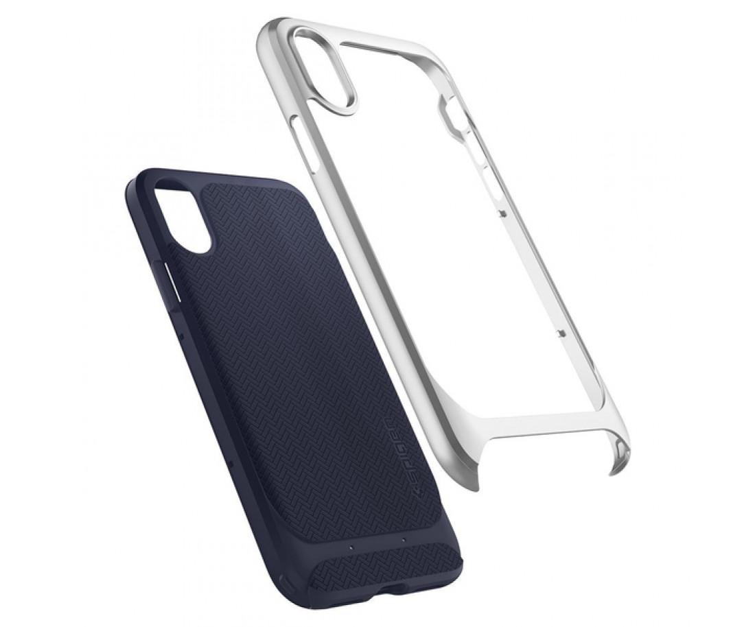 Чехол Spigen Case Neo Hybrid для iPhone X Satin Silver (057CS22167)