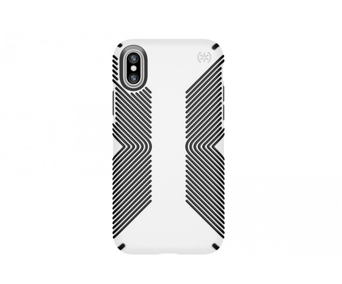 Чехол Speck Presidio Grip для iPhone X White/Black (SP-103131-1909)