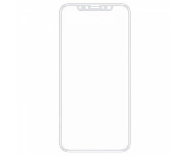 Защитное стекло 5D для iPhone X White б/к