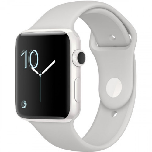 Apple Watch Edition 38mm White Ceramic Case with Cloud Sport Band (MNPF2)