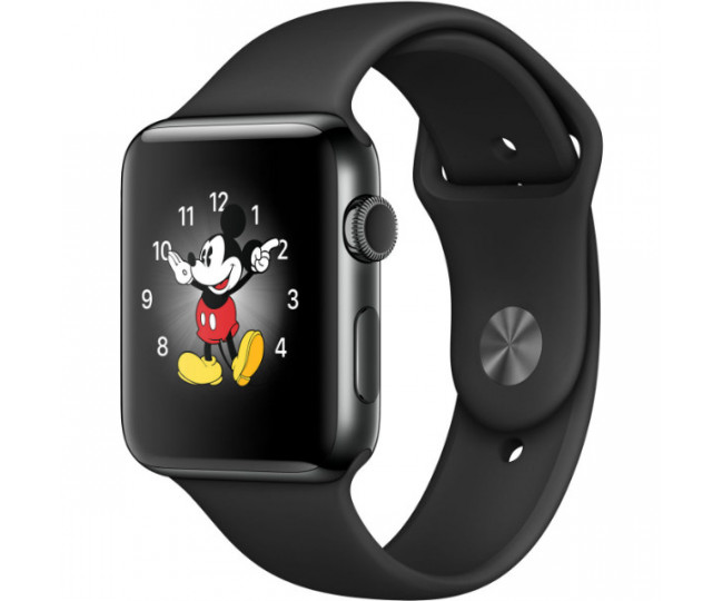 Apple Watch Series 2 38mm Space Black Stainless Steel Case with Space Black Sport Band (MP492)