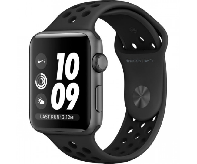 Apple Watch Nike 42mm Space Gray Aluminum Case with Anthracite/Black Nike Sport Band (MQ182)