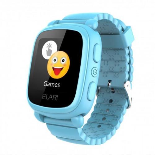 Детские смарт-часы Elari KidPhone 2 Blue с GPS-трекером (KP-2BL)