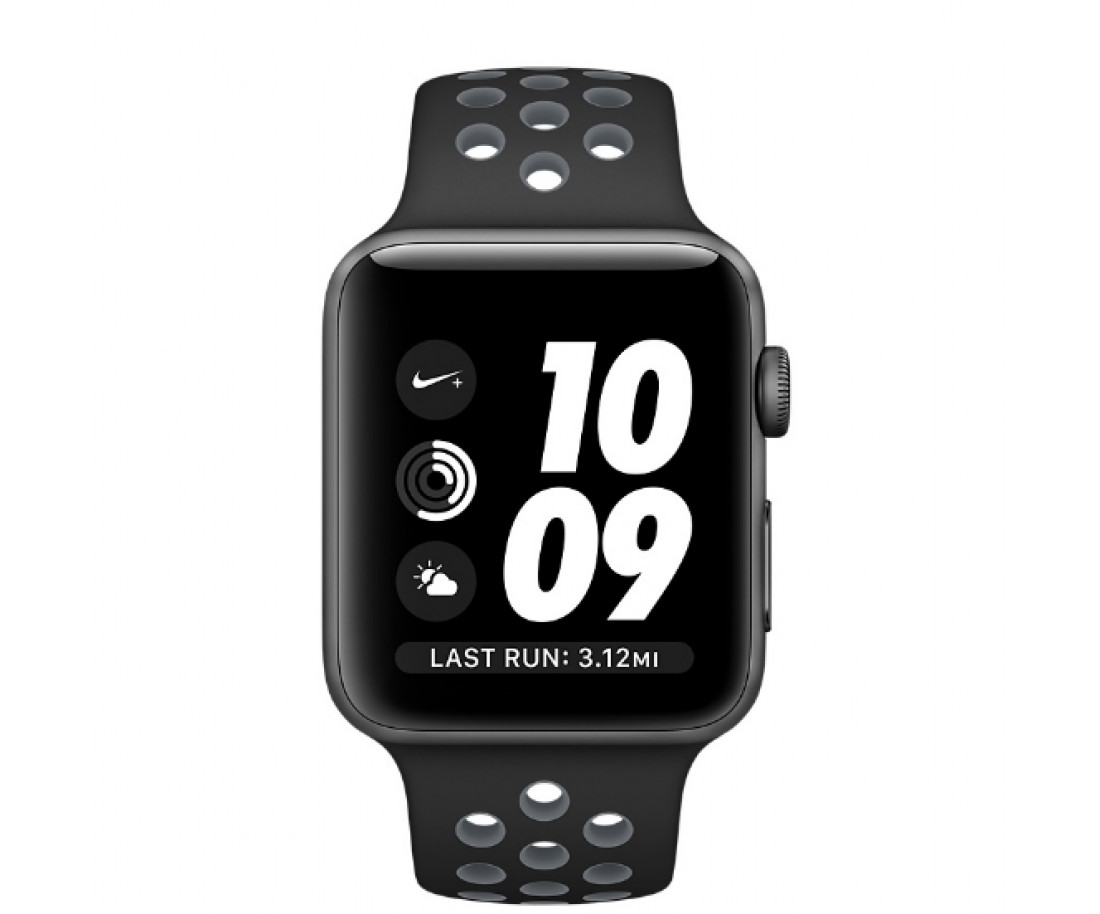 Apple Watch Nike+ 38mm Space Gray Aluminum Case with Black/Cool Gray Nike Sport Band (MNYX2)
