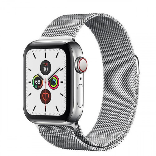 Apple Watch Series 5 GPS + Cellular 40mm Stainless Steel Case with Milanese Loop (MWWT2, MWX52)