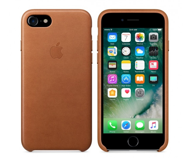 Чехол Apple iPhone 7 Leather Case - Saddle Brown (MMY22)