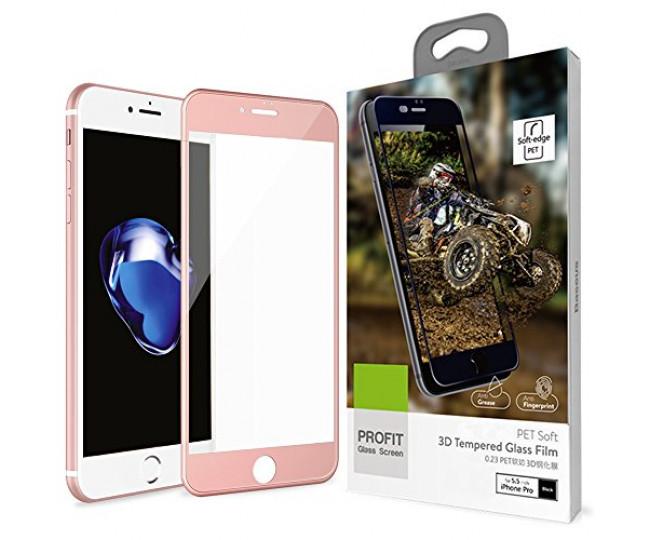 Защитное стекло Baseus 3D PET Soft для iPhone 7 Plus RG