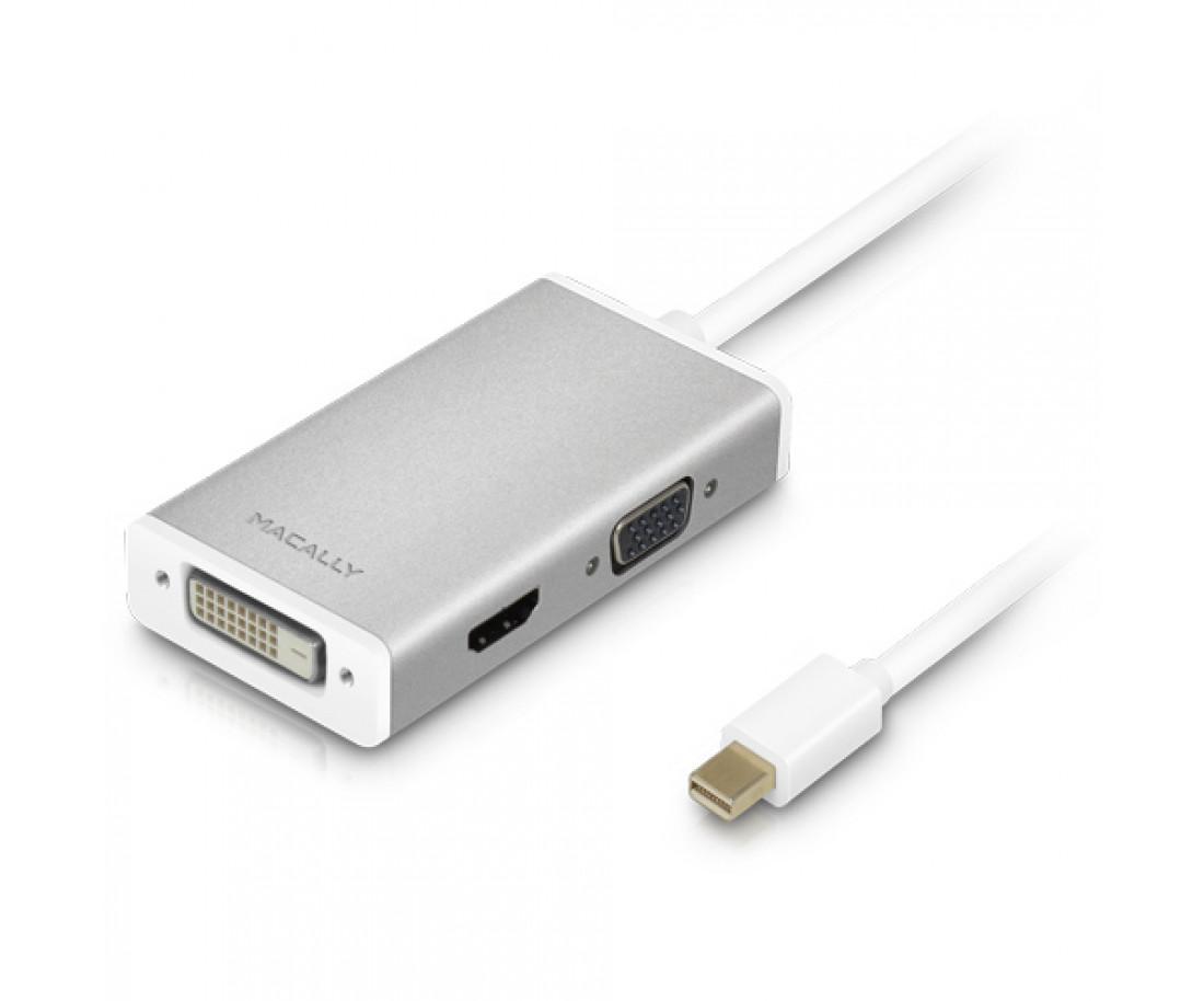 Адаптер Mini Display Port Macally to 3-in-1 DVI/HDMI/VGA (MD-3N1-4K)