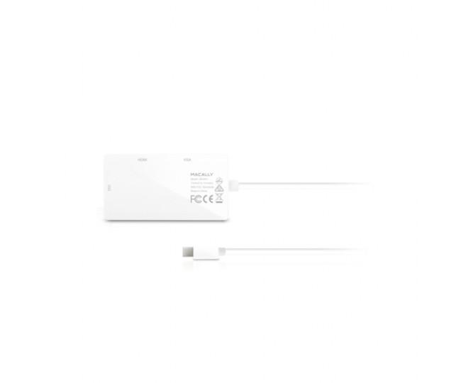 Адаптер Mini Display Port Macally to 3-in-1DVI/HDMI/VGA (MD-3N1)