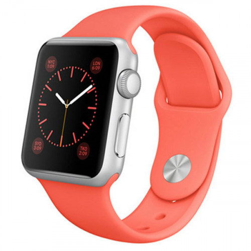 Apple Watch Sport 38mm Silver Aluminum Case with Pink Sport Band (MJ2W2)