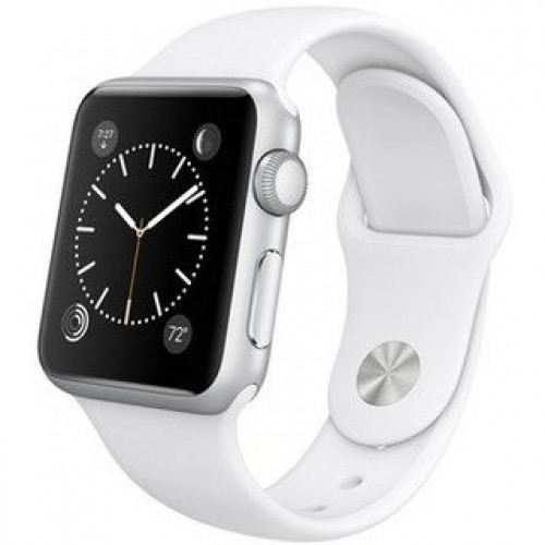 Apple Watch Sport 38mm Silver Aluminum Case with White Sport Band (MJ2T2) CPO