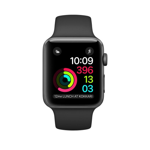 Apple Watch Series 1 42mm Space Grey Aluminium Case with Black Sport Band(MP032)  б/у