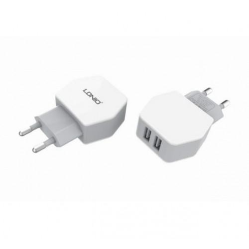 CЗУ LDNIO 5V-2.1A 2USB AC 61 cable (133951)