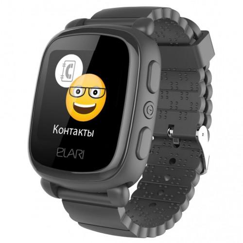 Детские смарт-часы Elari KidPhone 2 Black с GPS-трекером (KP-2B)