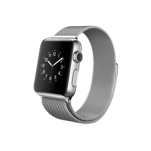 Apple Watch 38mm Stailnless Steel Case with Milanese Loop (MJ322)