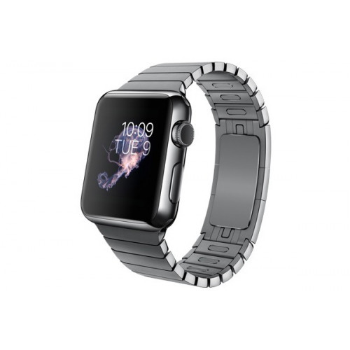 Apple Watch 38mm Space Black Case, Space Black Stainless Steel Link Bracelet (MJ3F2)