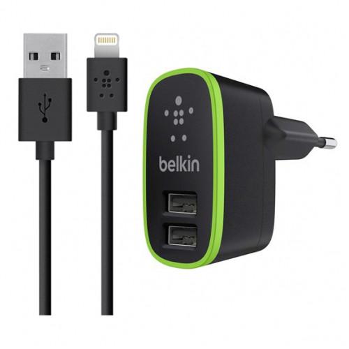 Зарядное устройство Belkin 2 USB Port Home Charger 2.1А Black