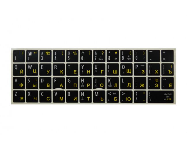 Наклейки для клавиатуры Label Pro Black