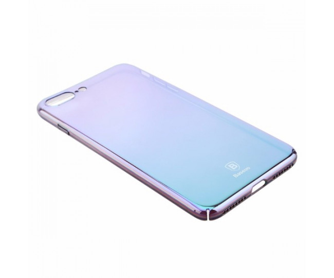 Чехол Baseus Glass Case для iPhone 7 Violet-Blue