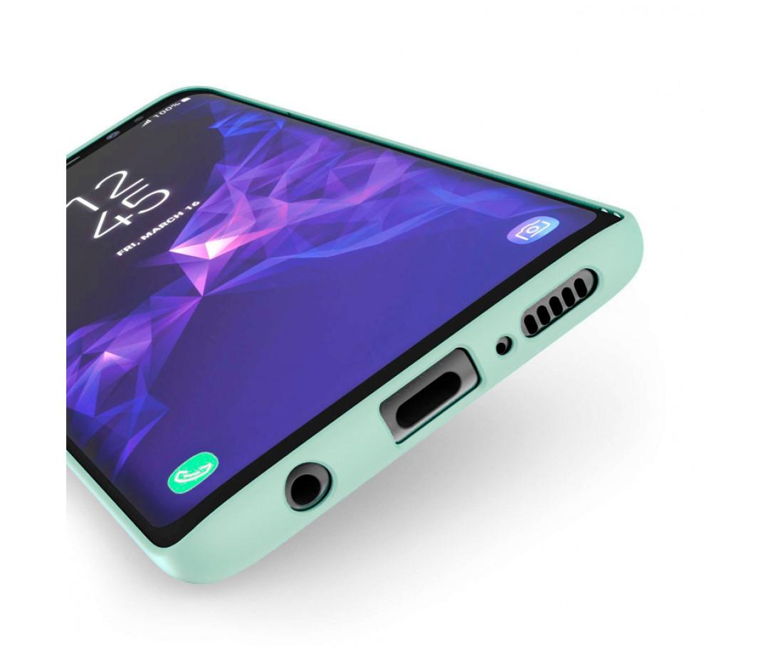 Чехол Silicone Cover для Samsung Galaxy S9+ Menthol