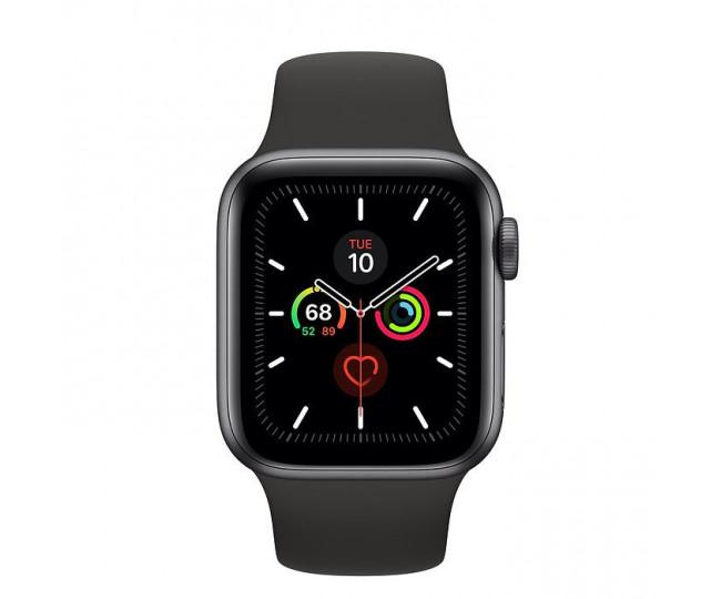 Apple Watch Series 5 GPS 40mm Space Gray Aluminum w. Black b.- Space Gray Aluminum (MWV82)