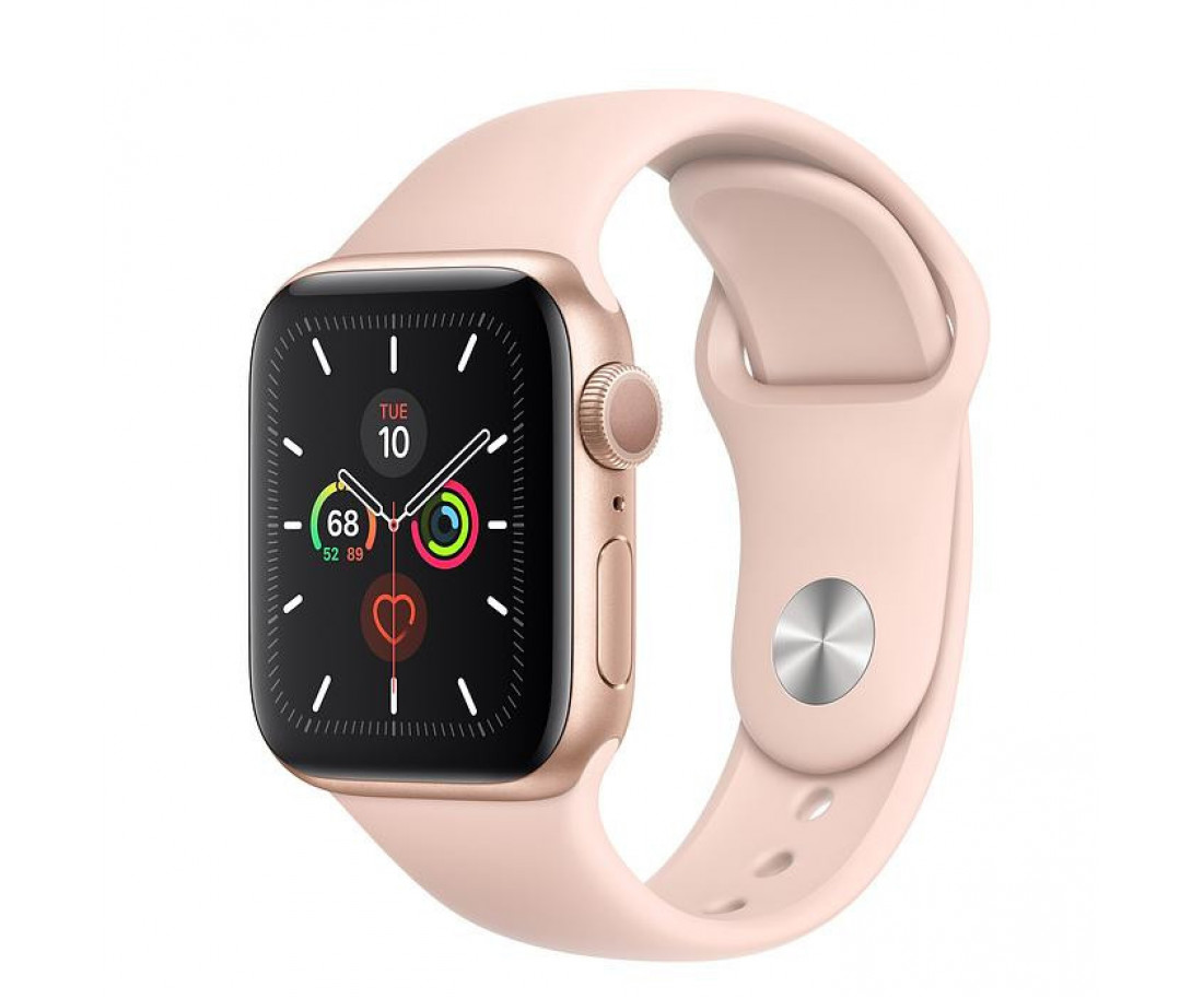 Apple Watch Series 5 (GPS) 40mm Gold Aluminum Case with Pink Sand Sport Band (MWV72) Open Box