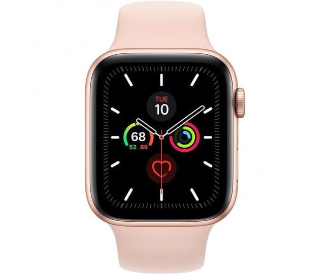 Apple Watch Series 5 GPS 44mm Gold Aluminum w. Pink Sand b.- Gold Aluminum (MWVE2)