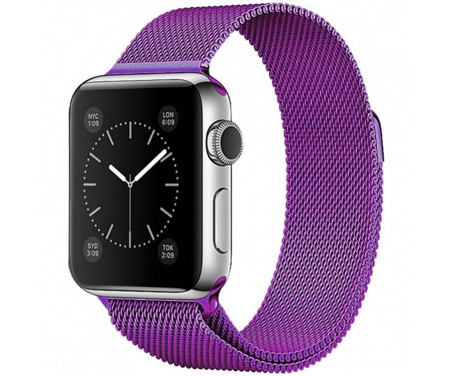 Ремешок для Apple Watch 38mm Milanese Loop Purple
