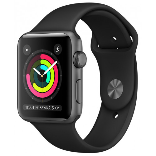 Apple Watch Series 3 GPS 38mm Space Gray with Black Sport Band (MTF02) UA