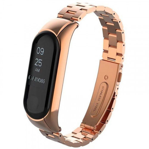 UWatch Metal Strap For Xiaomi Mi Band 3 Rose Gold