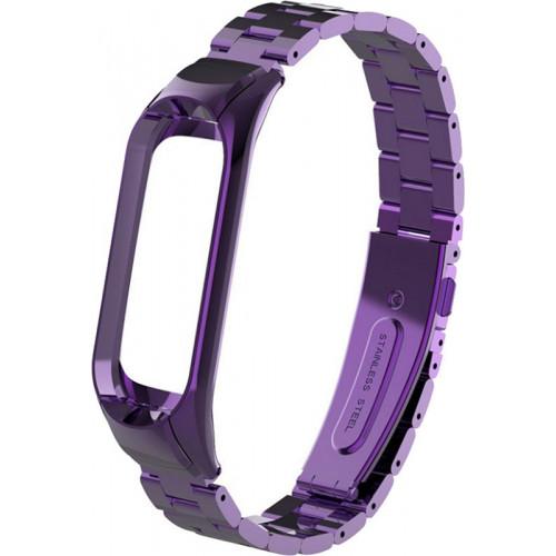 UWatch Metal Strap For Xiaomi Mi Band 3 Purple