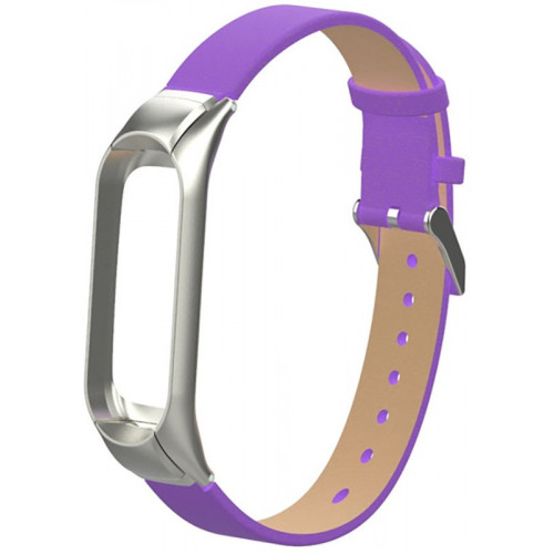 UWatch PU leather Band For Xiaomi Mi Band 3 Purple