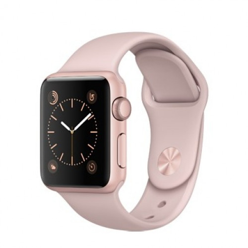 Apple Watch Series 1 38mm Rose Gold Aluminum Case with Pink Sand Sport Band (MNNH2) 4/5 б/у