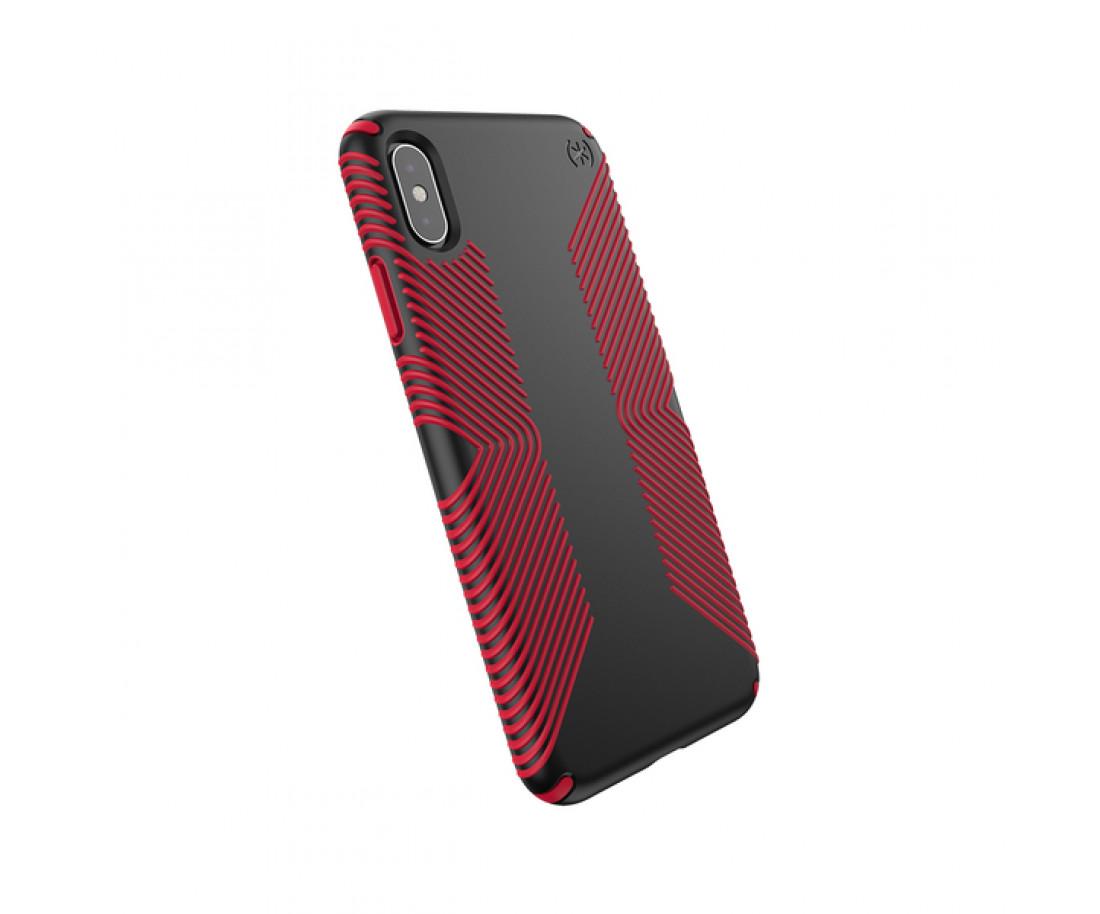 Чехол Speck Presidio Grip для iPhone XS Max Black/Dark Poppy Red (SP-117106-C305)