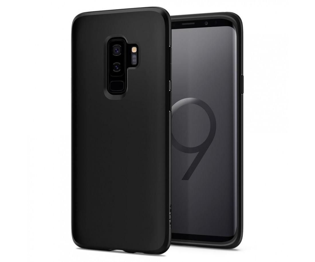 Spigen Samsung Galaxy S9 Plus Case Liquid Crystal Matte Black 593CS22912
