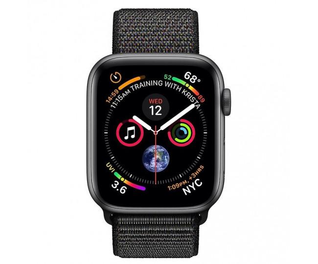 Apple Watch Series 4 GPS + LTE 44mm Gray Alum. w. Black Sport l. Gray Alum. (MTUX2)