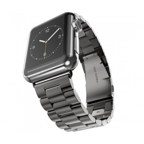 Металлический ремешок 3-Bead Metal Band for Apple Watch 42/44 mm - Black