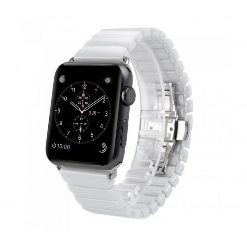 Керамический ремешок 1-Bead Ceramic Band for Apple Watch 38/40 mm - White