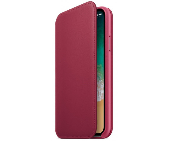 Apple iPhone X Leather Folio - Berry (MQRX2) без коробки
