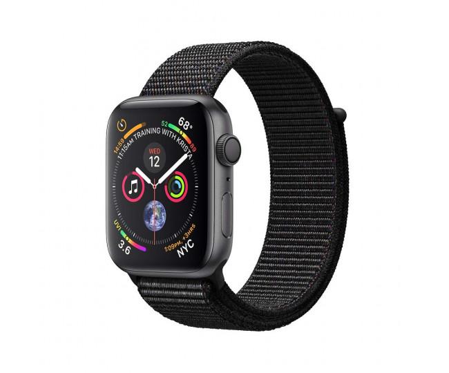 Apple Watch Series 4 GPS 40mm Gray Alum. w. Black Sport l. Gray Alum. (MU672)