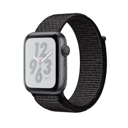 Apple Watch Nike Series 4 GPS 44mm Gray Alum. w. Black Nike Sport l. Gray Alum. (MU7J2)
