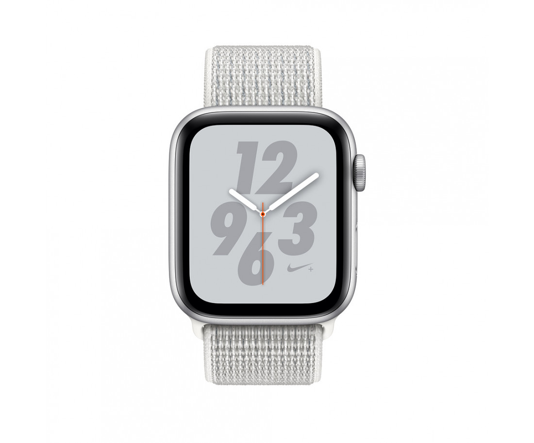 Apple Watch Nike+ Series 4 GPS 44mm Silver Alum. w. Summit White Nike Sport l. Silver Alum. (MU7H2)