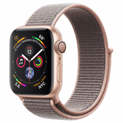 Apple Watch Series 4 GPS Cellular 40mm Gold Aluminum Case with Pink Sand Sport Loop MTUK2/ MTVH2