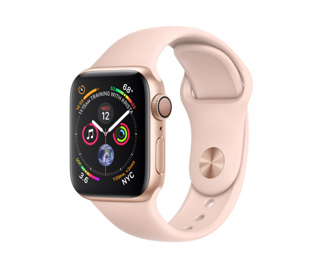 Apple Watch GPS Cellular 44mm Gold Aluminum Case with Pink Sand Sport Band (MTV02 / MTVW2)