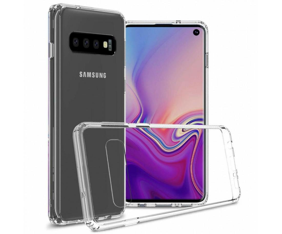 Чехол Silicone для Samsung S10 Clear