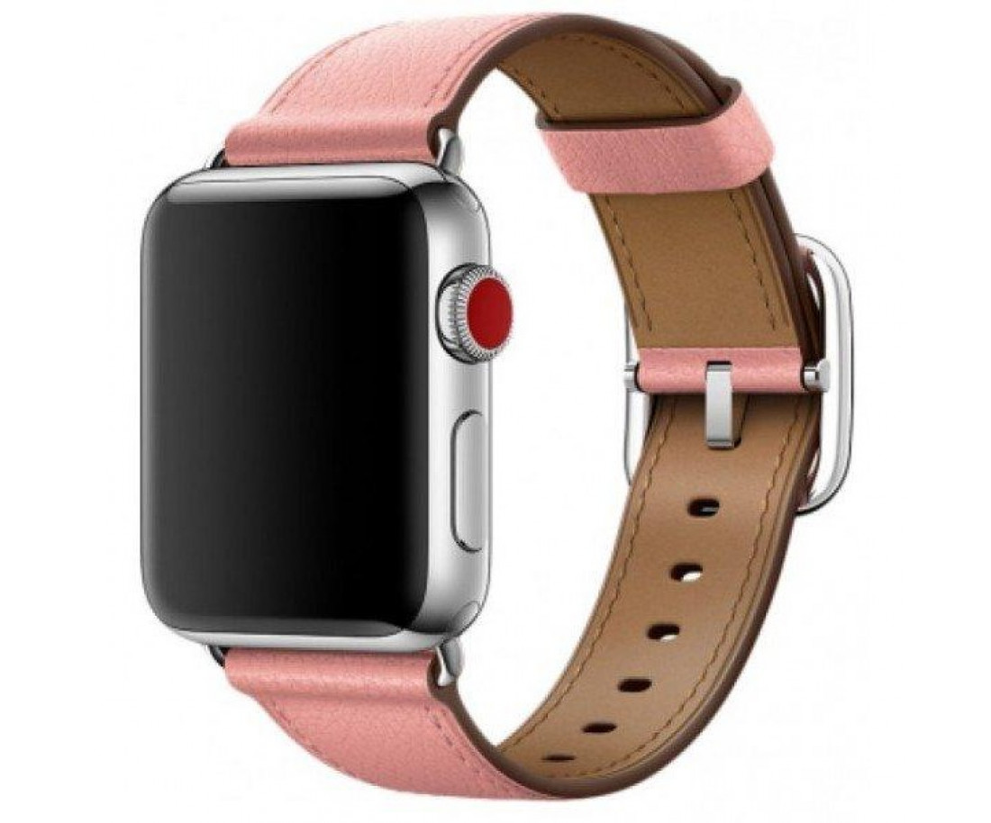 Ремешок для Apple Watch 42mm Hermes Buckle Classic Pink